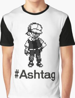 #Ashtag Pokemon Retro Graphic T-Shirt