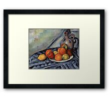 Paul Cezanne - Fruit and a Jug on a Table  Impressionism  Still Life Framed Print