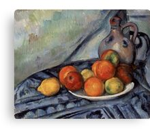 Paul Cezanne - Fruit and a Jug on a Table  Impressionism  Still Life Canvas Print