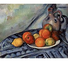 Paul Cezanne - Fruit and a Jug on a Table  Impressionism  Still Life Photographic Print