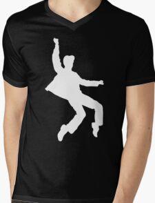 White Elvis Mens V-Neck T-Shirt
