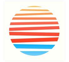 Circular Sunset Art Print