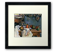 Paul Cezanne - Ginger Pot with Pomegranate and Pears 1893 Impressionism  Still Life Framed Print