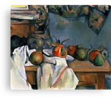 Paul Cezanne - Ginger Pot with Pomegranate and Pears 1893 Impressionism  Still Life Canvas Print