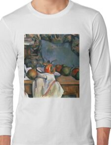 Paul Cezanne - Ginger Pot with Pomegranate and Pears 1893 Impressionism  Still Life Long Sleeve T-Shirt
