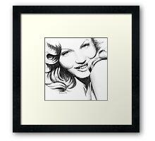 pretty  )  Framed Print