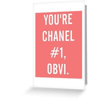 Obvi Greeting Card