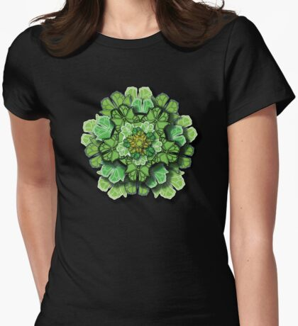 Butterfly Effect - Green Womens Fitted T-Shirt