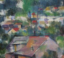 Paul Cezanne - Landscape 1888 - 1890 Sticker