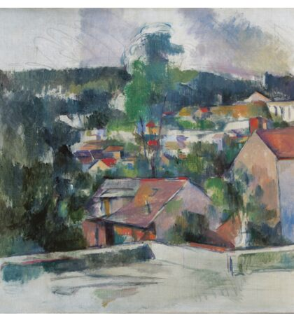 Paul Cezanne - Landscape 1888 - 1890 Sticker