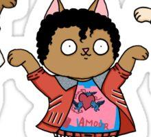Beat it Dance Cats Sticker