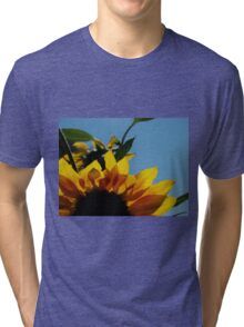 Alberta Sunflower Blue Sky Tri-blend T-Shirt