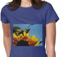 Alberta Sunflower Blue Sky Womens Fitted T-Shirt