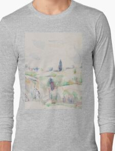 Paul Cezanne - Landscape in Provence between 1895 and 1900 Long Sleeve T-Shirt