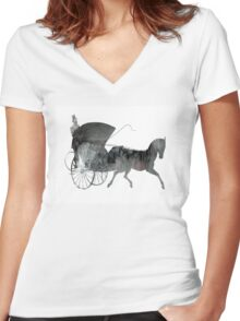 Carriage Women's Fitted V-Neck T-Shirt