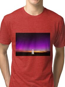 Northern Lights over Wales Tri-blend T-Shirt