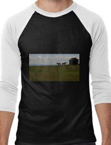 Alberta Panorama - God's Country Men's Baseball ¾ T-Shirt