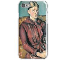 Paul Cezanne - Madame Cezanne In A Yellow Armchair 1888-1890 iPhone Case/Skin