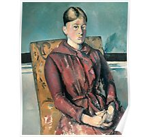 Paul Cezanne - Madame Cezanne In A Yellow Armchair 1888-1890 Poster
