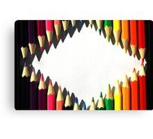 Colored Pencil Diamond Shape Canvas Print