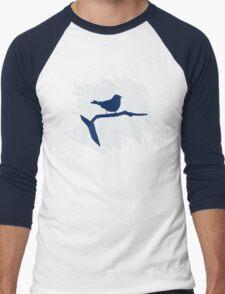 Blue Bird Silhouette Men's Baseball ¾ T-Shirt