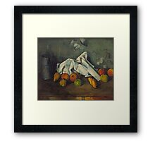 Paul Cezanne - Milk Can and Apples 1879 - 1880 Framed Print