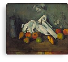 Paul Cezanne - Milk Can and Apples 1879 - 1880 Canvas Print