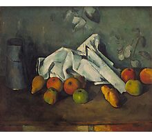 Paul Cezanne - Milk Can and Apples 1879 - 1880 Photographic Print