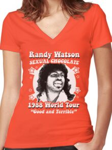 Randy Watson 1988 World Tour Women's Fitted V-Neck T-Shirt