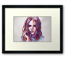 The girl who waited Framed Print