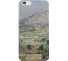 Paul Cezanne - Montagne Sainte-Victoire 1890 iPhone Case/Skin