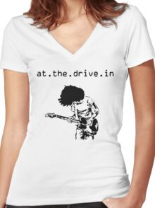 At. The. Drive. In. Women's Fitted V-Neck T-Shirt