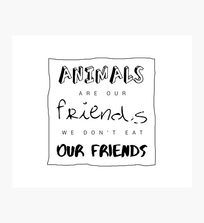 Animals are our friends Photographic Print
