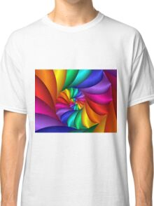Beautiful Psychedelic Rainbow Spiral  Classic T-Shirt
