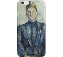 Paul Cezanne - Portrait of Madame Cezanne  1890 iPhone Case/Skin