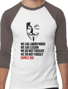 We are Anonymous Men's Baseball ¾ T-Shirt
