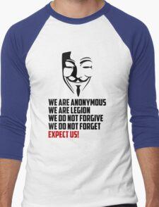We are Anonymous Men's Baseball ¾ T-Shirt