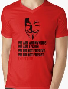 We are Anonymous Mens V-Neck T-Shirt