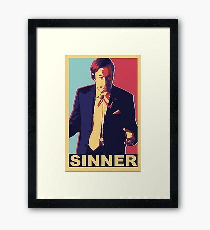 Breaking Bad: Saul Goodman, SINNER Framed Print
