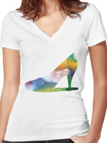High heels Women's Fitted V-Neck T-Shirt