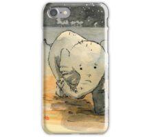 Elephant sketch iPhone Case/Skin