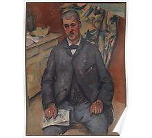 Paul Cezanne - Seated Man  1900 Poster