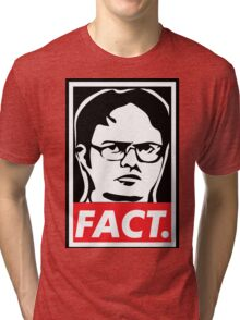"""The Office: Dwight """"FACT' Obey Tri-blend T-Shirt"""