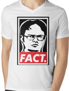 "The Office: Dwight ""FACT' Obey Mens V-Neck T-Shirt"