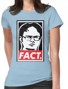 "The Office: Dwight ""FACT' Obey Womens Fitted T-Shirt"