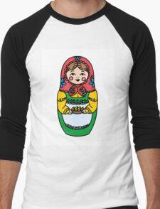 Colorful Russian dolls - matryoshka Men's Baseball ¾ T-Shirt