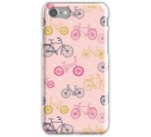 bicycles, black and white, hand drawn, print, pattern, andrea lauren, tour de france, bicycle, bike, bikes, biking, cycle, cycling, athlete, kids, baby, children, drawing,  iPhone Case/Skin