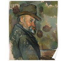Paul Cezanne - Self-Portrait with a Hat 1890 - 1894 Poster