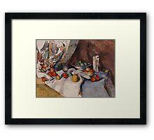 Paul Cezanne - Still Life with Apples 1895 - 1898 Framed Print