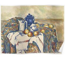 Paul Cezanne - Still Life with Blue Pot  1900 - 1906 Poster